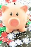 Suas economias na linha com jogo Fotografia de Stock Royalty Free