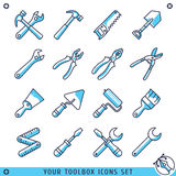 Suas linhas ajustadas ícones ilustração da caixa de ferramentas do vetor Fotos de Stock