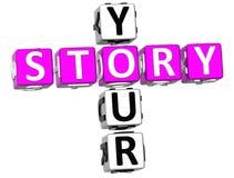 Suas palavras cruzadas da história Fotografia de Stock Royalty Free