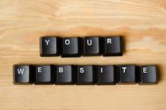 Suas palavras do Web site Foto de Stock Royalty Free