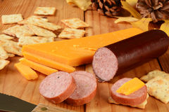 Suasage and cheese Royalty Free Stock Photos