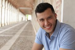 Suave ethnic male smiling portrait isolated.  Royalty Free Stock Photography