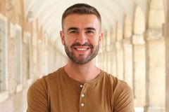 Suave male smiling portrait.  Stock Image