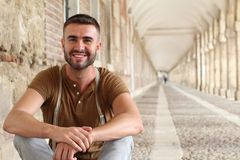 Suave male smiling portrait.  Royalty Free Stock Images