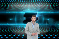 Suave man in a blazer Royalty Free Stock Image
