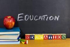 Subôrno favorito da maçã do professor das crianças do estudante da escola da educação imagem de stock