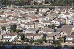 Subúrbio de Califórnia da classe média Fotografia de Stock Royalty Free