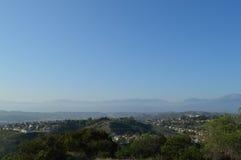 Subúrbio do interior de Ridgeline Califórnia do sul Imagem de Stock Royalty Free