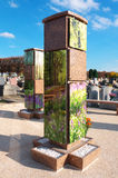 Subúrbio funerário vertical crescente de Paris das urnas Fotos de Stock