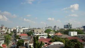 Subúrbio no dia da luz do sol, Tailândia de Banguecoque vídeos de arquivo
