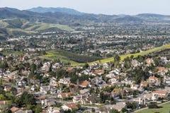 Subúrbios do vale de Califórnia Foto de Stock Royalty Free
