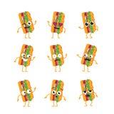 Sub Character - vector set of mascot illustrations. Royalty Free Stock Image