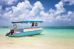 Sub charter boat on the sea in mautitius island Royalty Free Stock Photos
