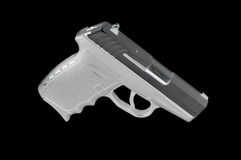 Sub Compact Handgun isolated on a black background Royalty Free Stock Photos