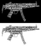 Sub Machine-gun graphics Royalty Free Stock Photos