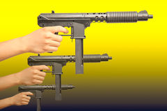 Sub-machine gun Stock Photo