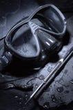 Sub mask. Submariner mask on stone background Royalty Free Stock Photo