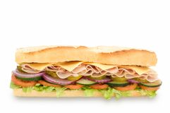 Sub sandwich. Healthy sub sandwich isolated on whit background Stock Photo