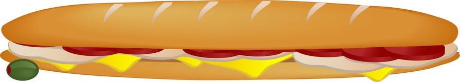 Sub sandwich Stock Photography