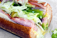 Sub sandwich. Submarine sandwich on paper Royalty Free Stock Images