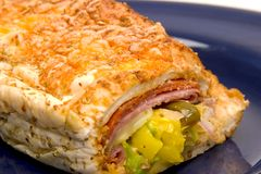 Sub Sandwich Closeup Stock Images