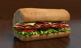 Sub Sandwich Half Stock Photos