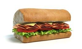 Sub Sandwich Half Stock Image