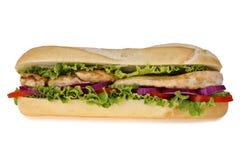 Sub sandwich. Huge sub sandwich isolated on white background Stock Photos
