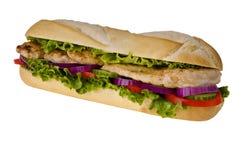 Sub sandwich. Huge sub sandwich isolated on white background Stock Image