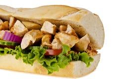 Sub sandwich. Huge sub sandwich isolated on white background Royalty Free Stock Image
