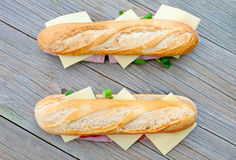 Sub sandwiches Stock Photo
