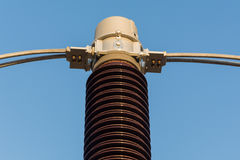 Sub station equipment. Equipment of high voltage sub station for tranfrom electricity Stock Photos