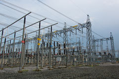 Sub station. High voltage sub station for tranfrom electricity Stock Image