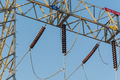 Sub station. High voltage sub station for tranfrom electricity Stock Photo