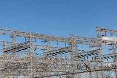 Sub station. Structure Stock Photo