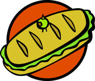 Sub style sandwich vector illustration Stock Images
