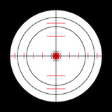 Sub target. Submarine target in black, white and red Royalty Free Stock Images