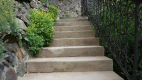 Suba la escalera en el parque de la ciudad