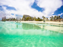 ¿Subacuático o no? Bahamas Fotos de archivo
