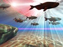 Subaquático ilustração stock
