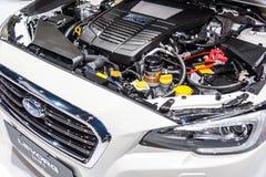 Subaru拳击手DIT引擎Subaru LEVORG 1 6个GT-S 免版税库存照片