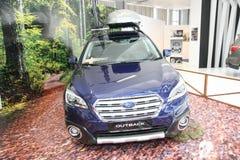 Subaru bij het Car Show van Belgrado Stock Fotografie