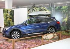 Subaru bij het Car Show van Belgrado Royalty-vrije Stock Foto's