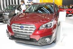 Subaru bij het Car Show van Belgrado Royalty-vrije Stock Afbeelding