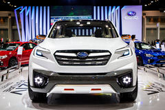 Subaru bil som visas på Thailand 37th internationella Motorshow 2016 Royaltyfri Fotografi