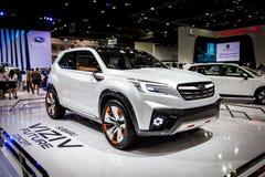 Subaru bil som visas på Thailand 37th internationella Motorshow 2016 Arkivbild