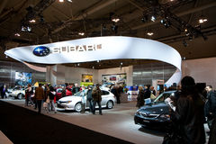 Subaru Booth at the Toronto Auto show Stock Photos