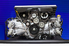 Subaru Boxer Engine 2.0 Litre on Display Stock Photo