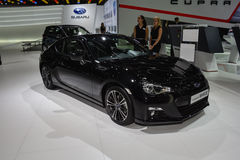 Subaru BRZ bij de de Motorshow van Genève Stock Foto