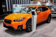 Subaru Crosstrek 2018 indicato all'auto internazionale S di New York Fotografia Stock Libera da Diritti